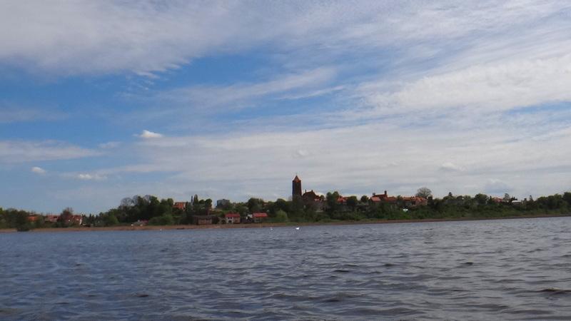 Panorama Prabut widziana z jeziora Liwieniec.