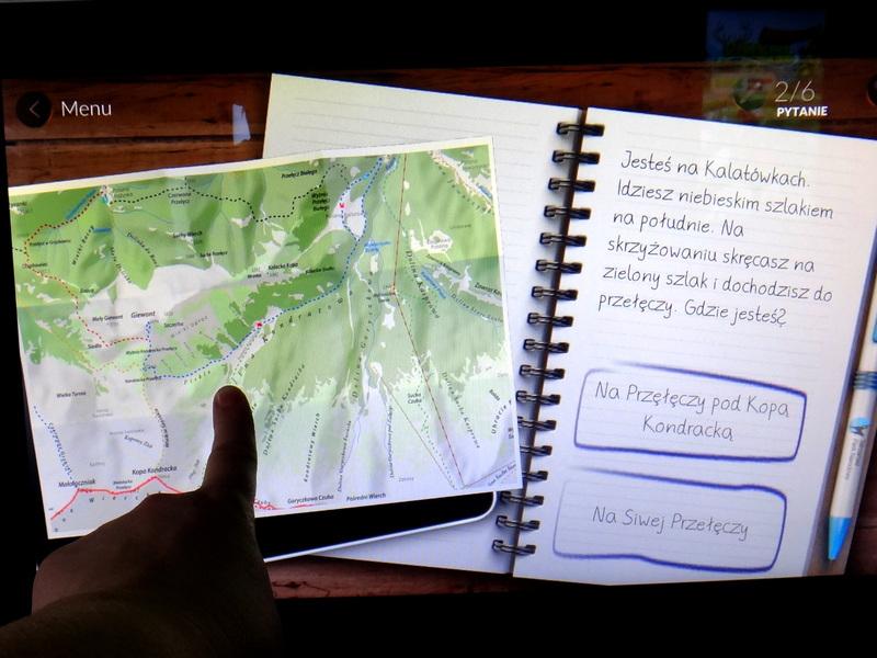 Centrum Edukacji Przyrodniczej TPN - ćwiczenie z interaktywną mapą.