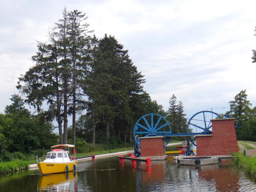 Pochylnia Oleśnica z pokładu hausbota