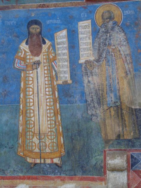 Voronet. Grigorie Rosca i mnich Daniło