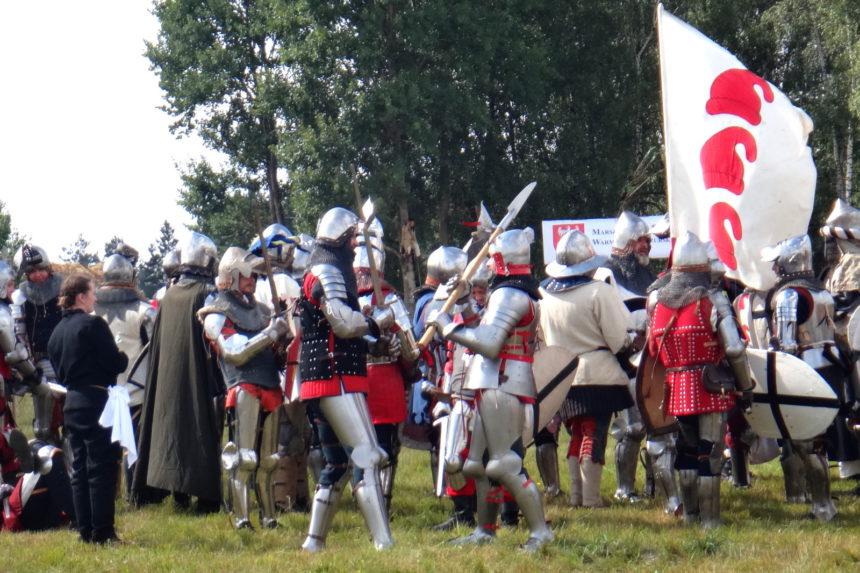 Inscenizacja bitwy pod Grunwaldem. Przygotowania do bitwy.