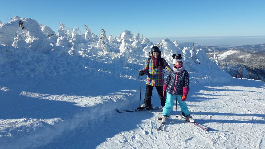 Na nartach w Szczyrku.