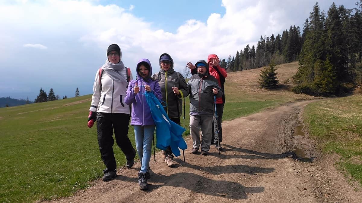Rodzinny spacer w Gorcach.