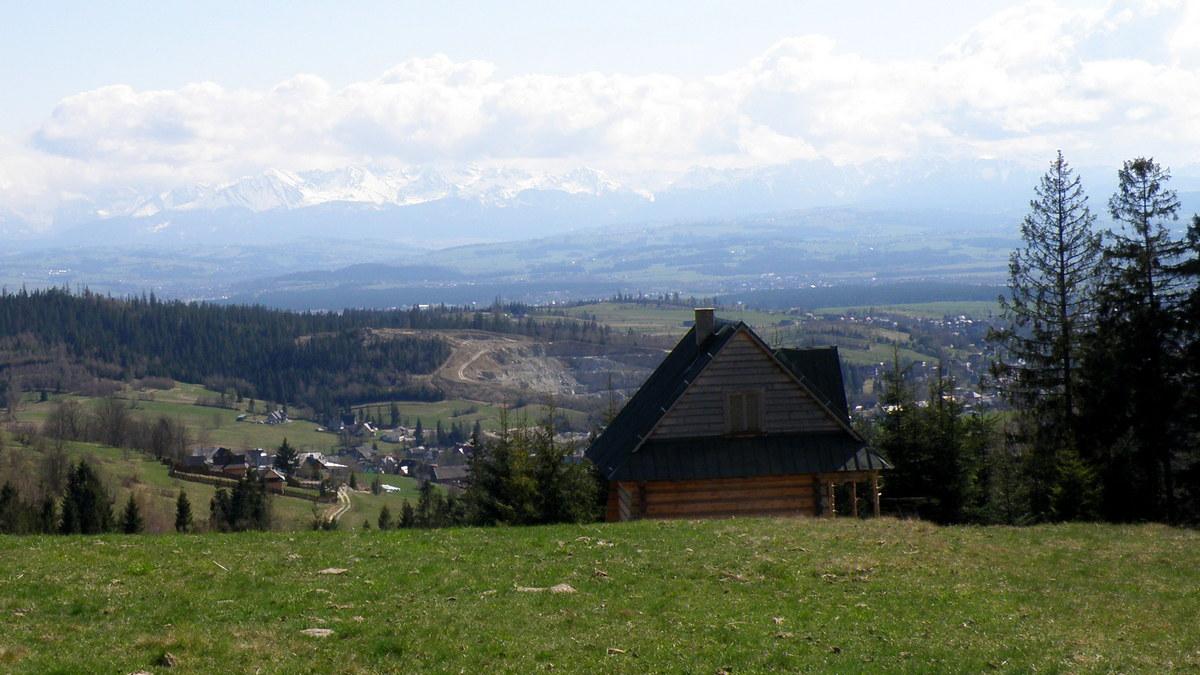 Gorce. Panorama na Tatry.