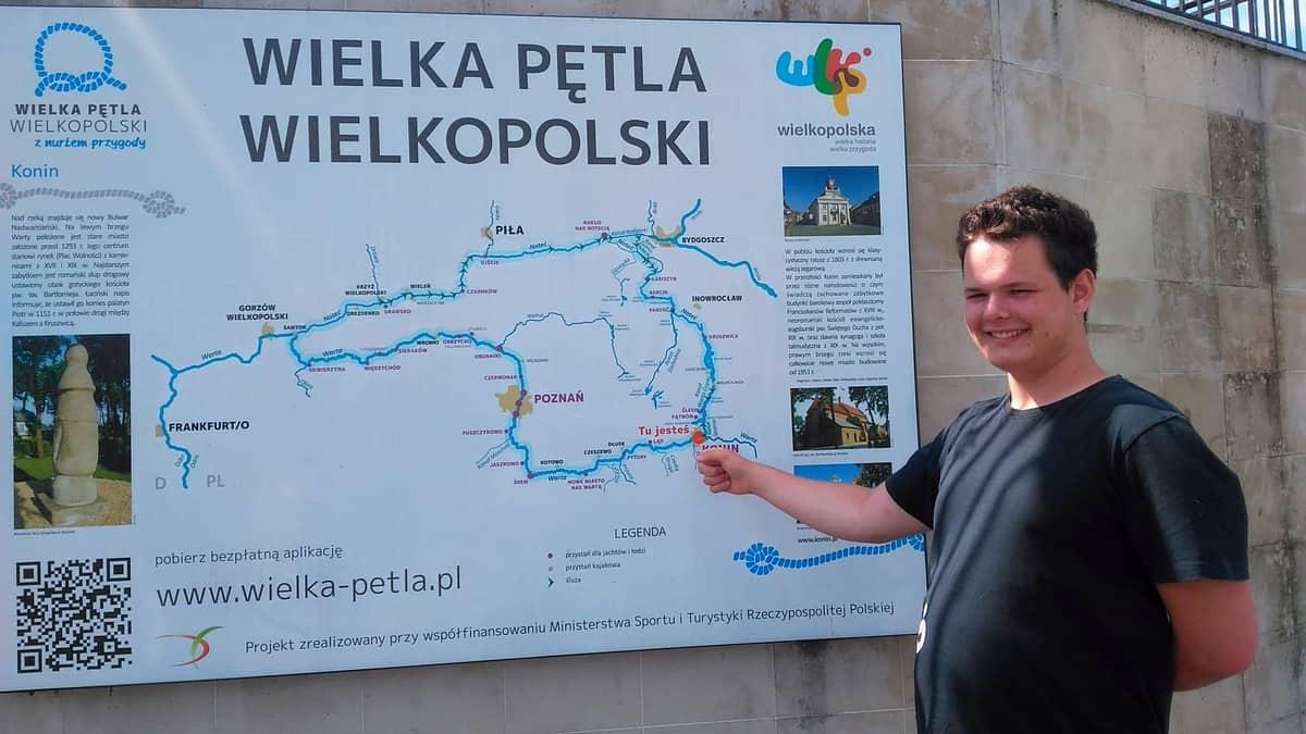 Wielka Pętla Wielkopolski - mapa.