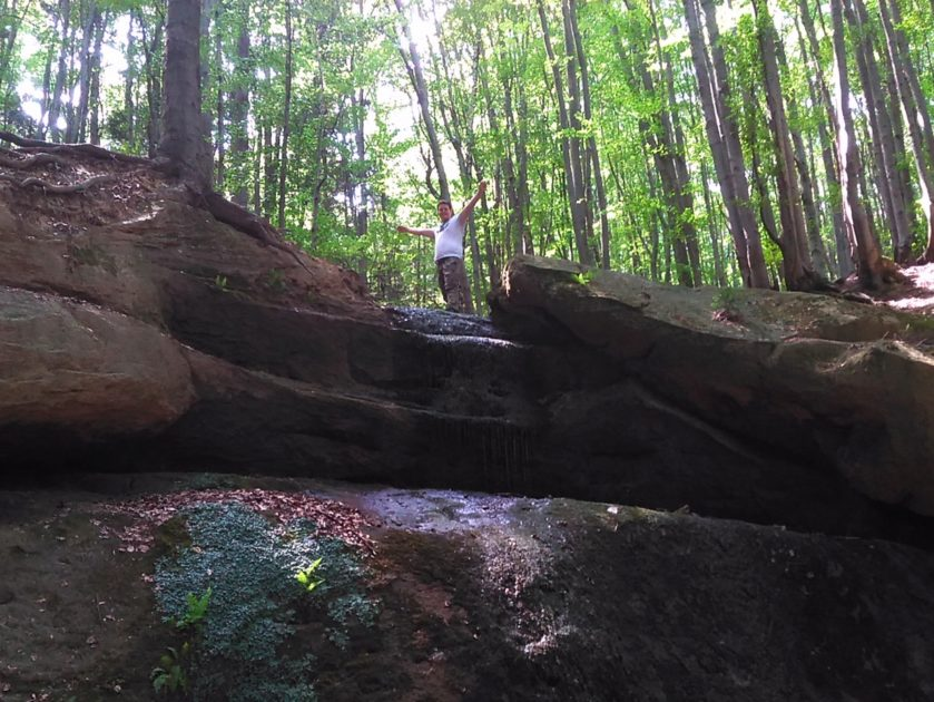 Wodospad Magurski na ścieżce przyrodniczej Folusz.