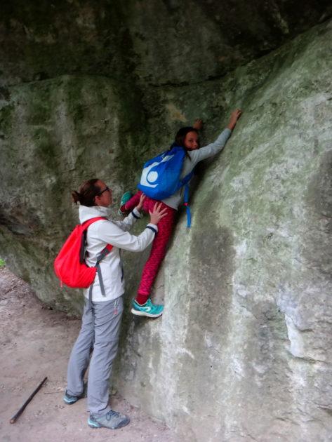 Wspinaczka na skałki w Zimnym Dole