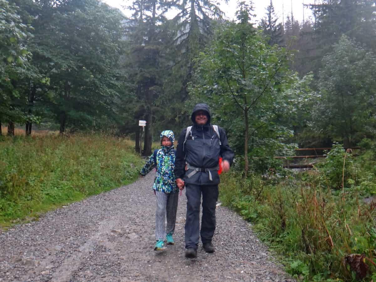 Uciekamy przde deszczem. Dolina Strążyska.