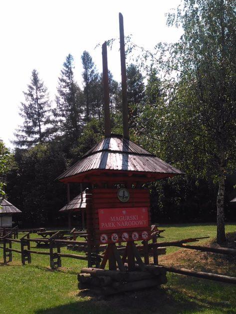 Wejście do Magurskiego Parku Narodowego.