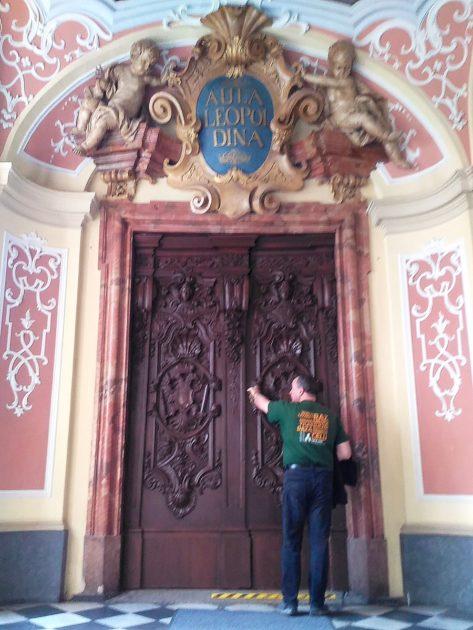Wejście do Aula Leopoldina.