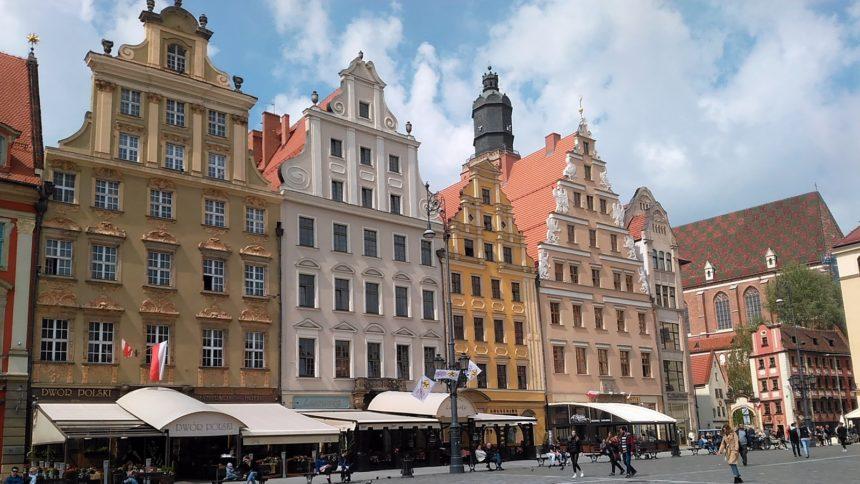 Kamieniczki na wrocławskim Rynku.