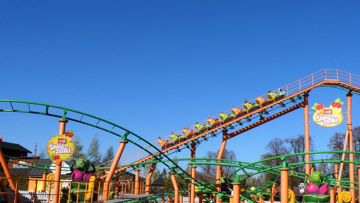 Rollercoaster Energuś w Energylandii.