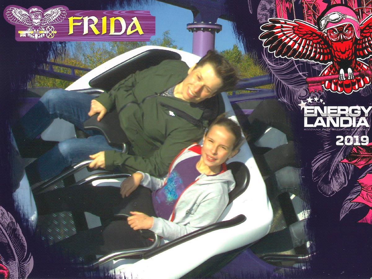 My podczas przejażdżki na Fridzie w Energylandii.