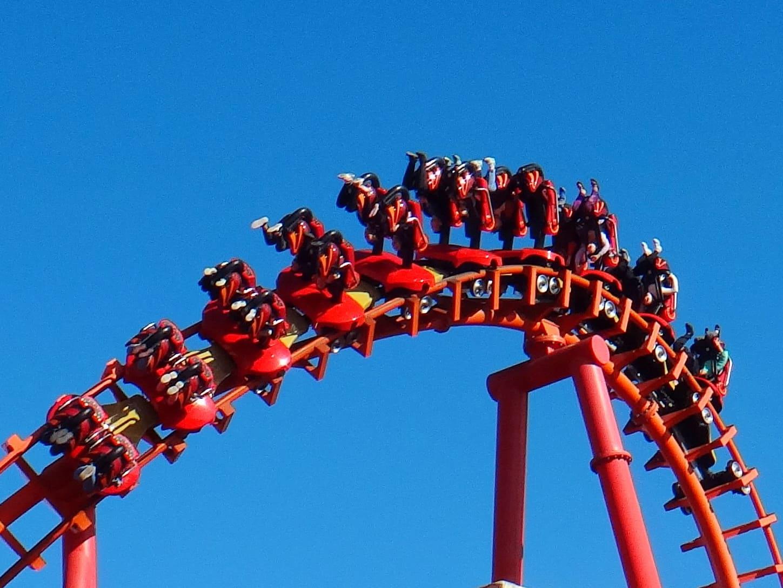Rollercoaster Mayan w Energylandii.