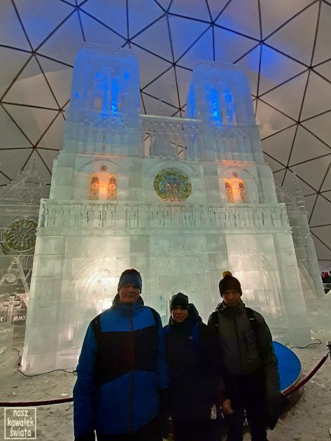 Tatrzańska lodowa świątynia 2019/2020. Katedra Notre Dame de Paris.