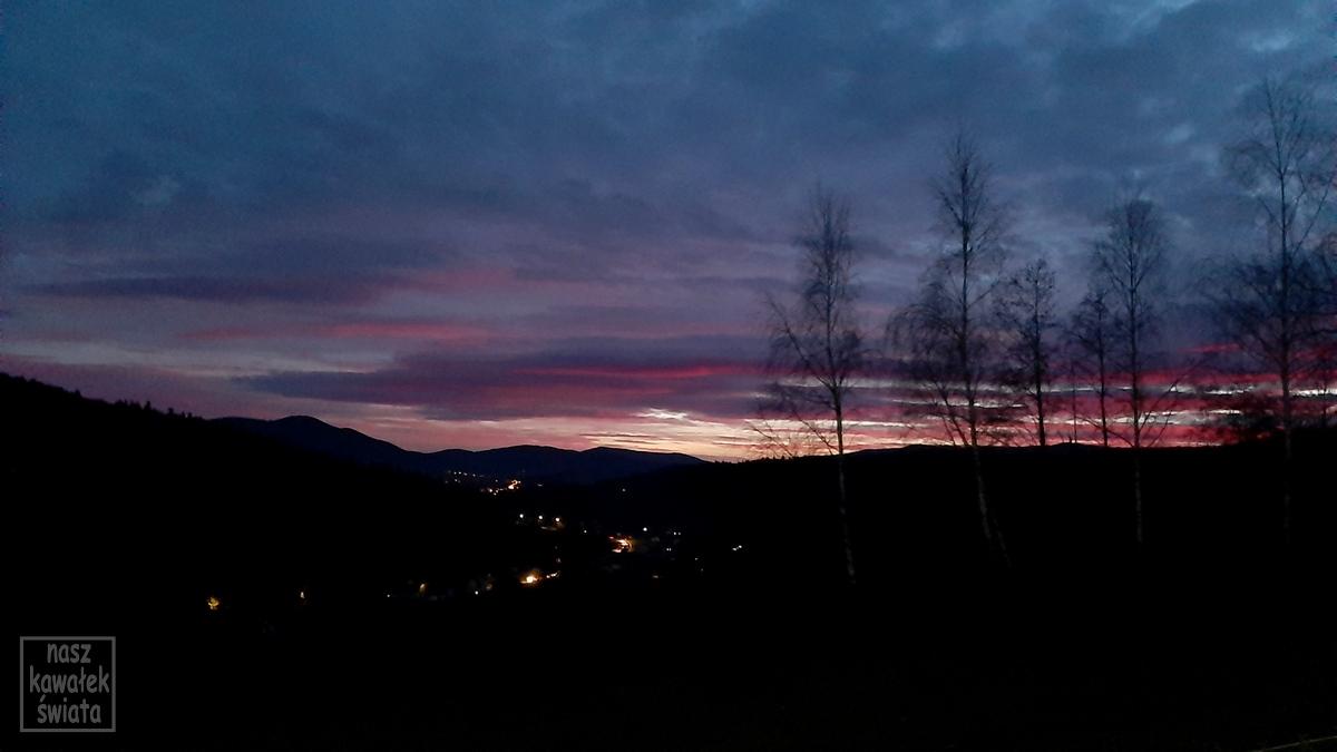 Zachód słońca na zaczarowanym Wzgórzu.