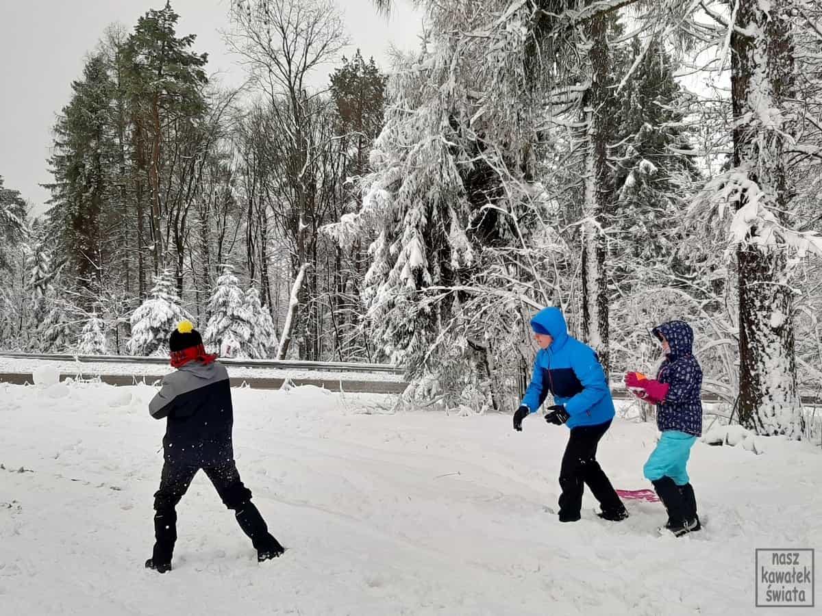 Bitwa na śnieżki na Przełęczy Małastowskiej.