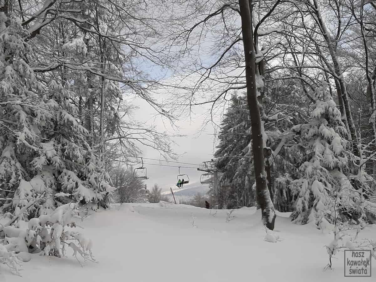 Magura Małastowska - wyciąg narciarski.