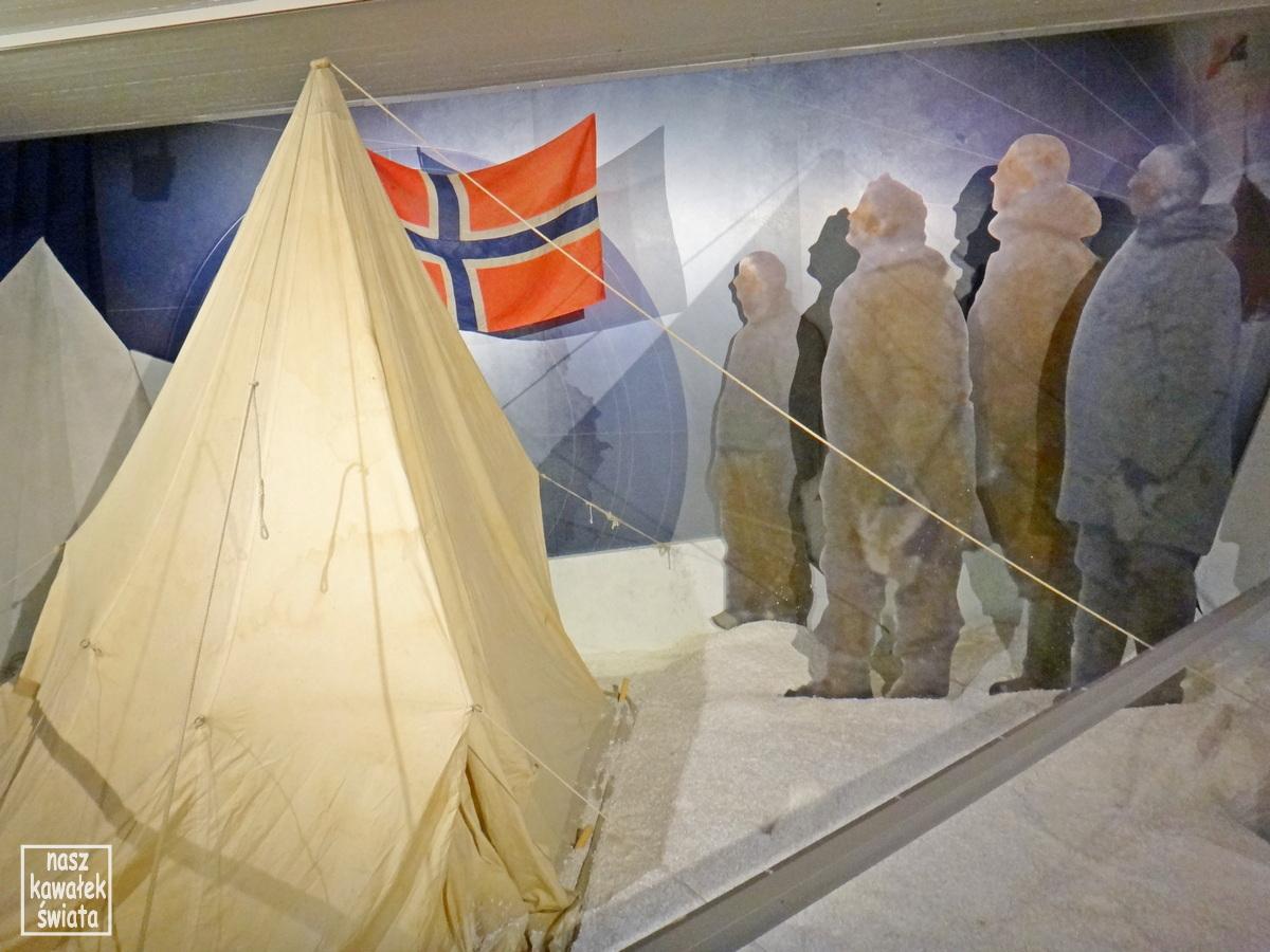 Amundsen na biegunie południowym.