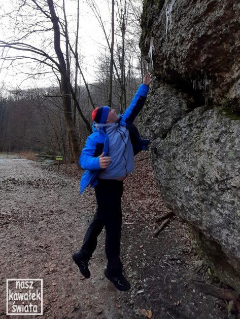 Sople na skałkach w Dolnie Sąspowskiej