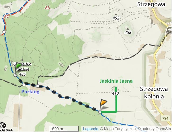 Nasza trasa po Dolinie Wodącej.