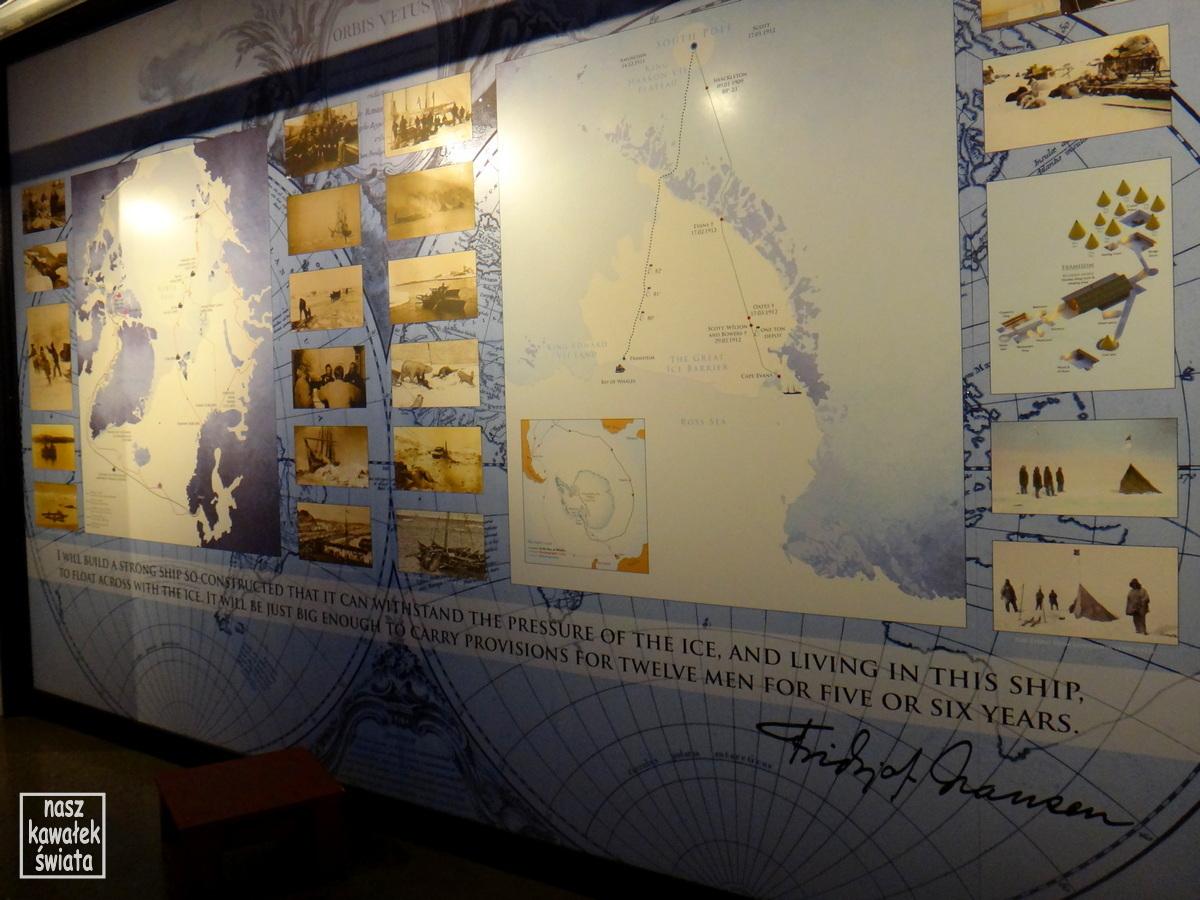 Trasa rejsów statku Fram.