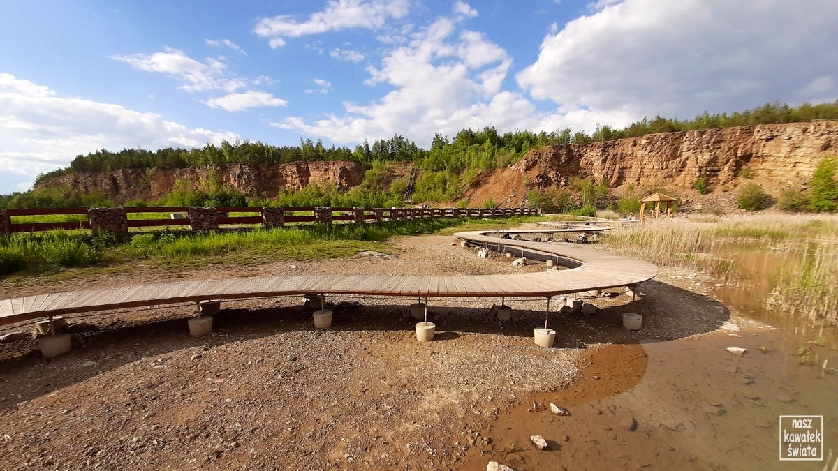 Zbiornik Wydra w parku Gródek