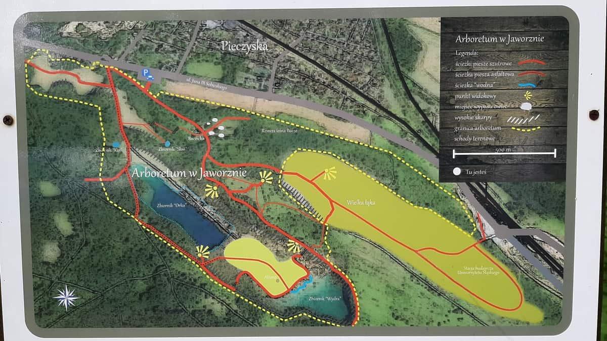 Park gródek - mapa