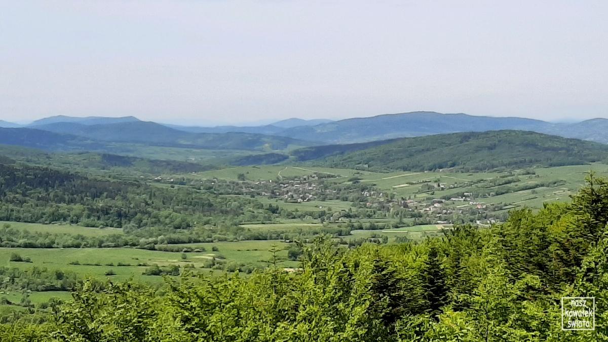 Widok z wieży widokowej na Ferdlu.