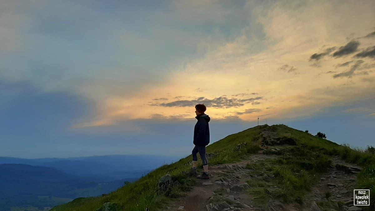 Zachód słońca na Połoninie Caryńskiej.