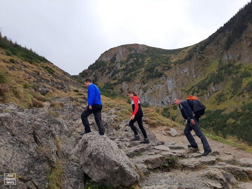 Podejście na Przełęcz miedzy Kopami od strony Doliny Jaworzynki