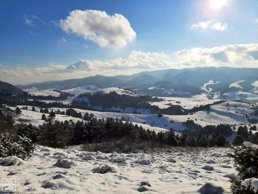 Widok z Wysokiego Wierchu na słowacką stronę