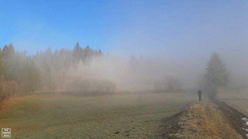 Mgły w drodze na Lubań