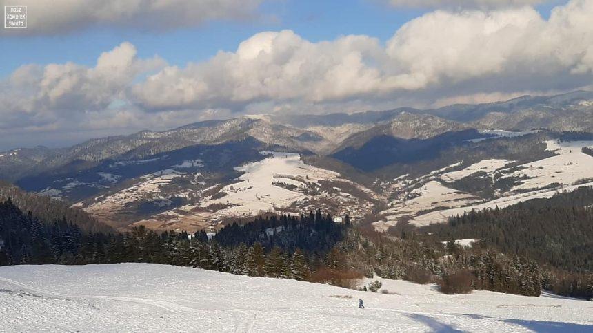 Widok na Jaworki z Wysokiego Wierchu