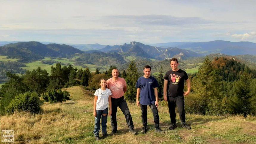 Wysoki Wierch. Panorama na Pieniniy.