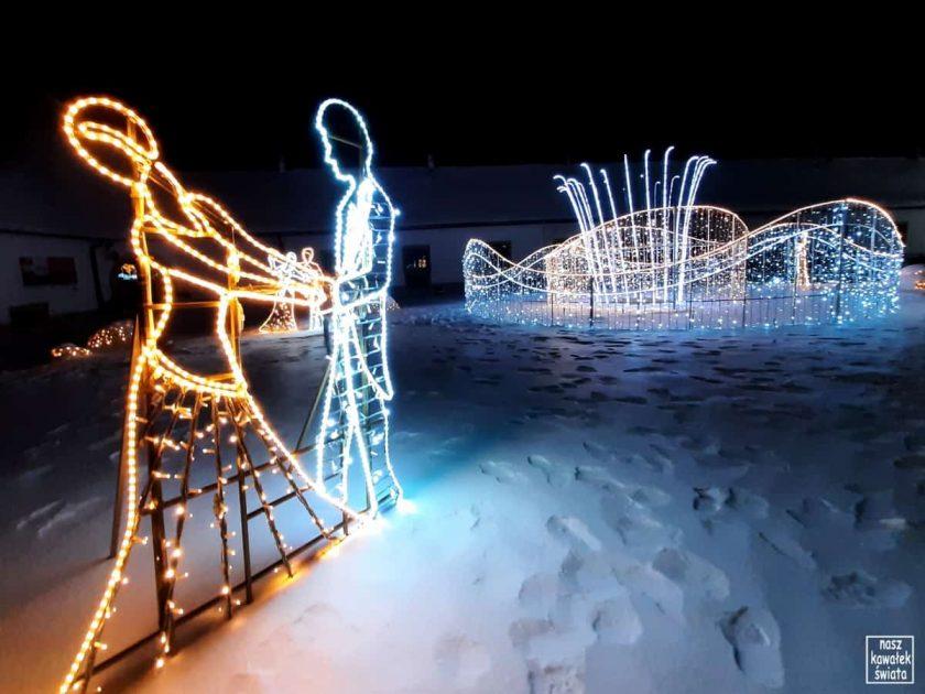 Dziedziniec tysiąca świateł w Nowym Wiśniczu