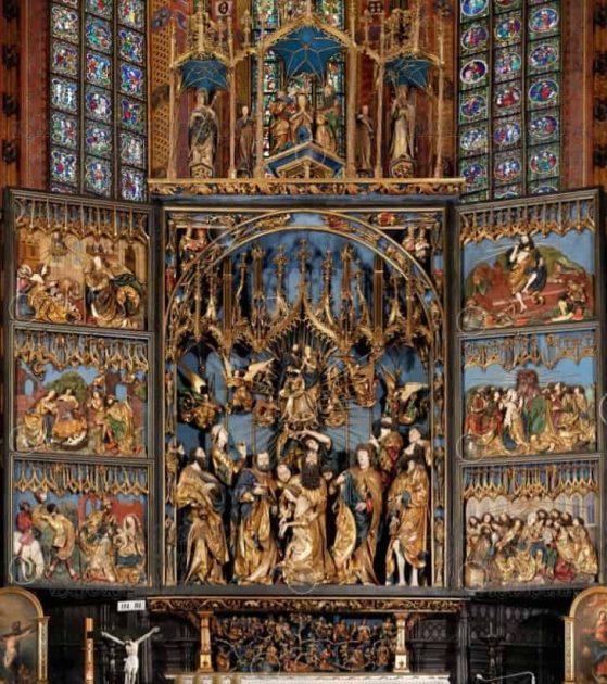 Ołtarz Wita Stwosza przed renowacją