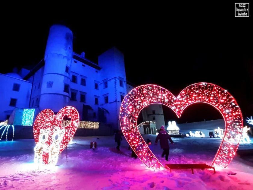 Walentynki na dziedzińcu zamku w Nowym Wiśniczu