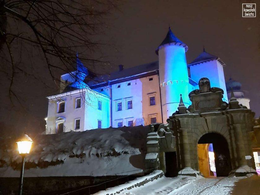 Zamek w Wiśniczu nocą