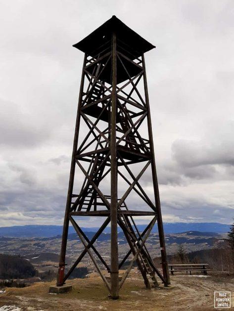 Wieża widokowa pod szczytem góry Jaworz (Beskid Wyspowy)