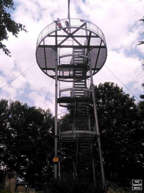 Wieża na szczycie Jaworze (Beskid Niski)