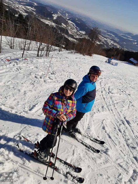 Laskowa Ski - widok z trasy nr 2