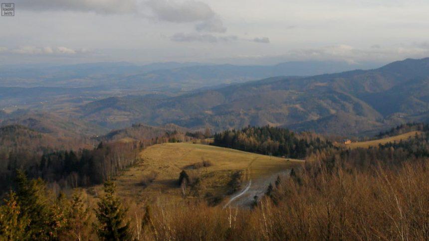 Panorama z Koziarza w stronę Nowego Sącza