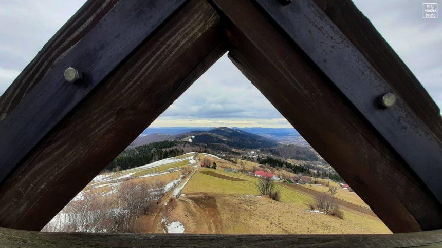 Widok z Jaworza w stronę Babiej Góry