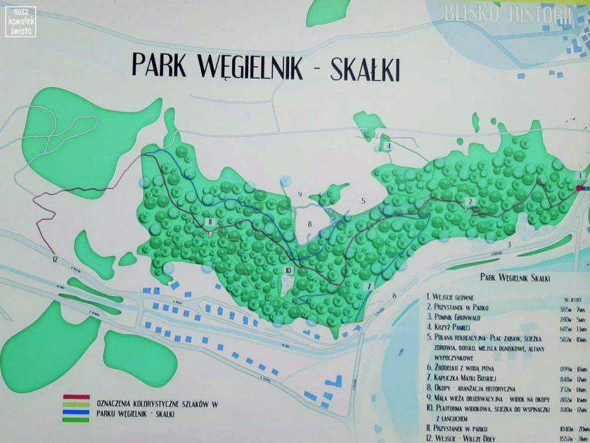 Park Węgielnik-mapa