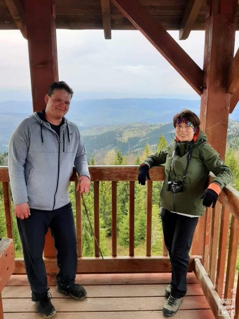 Eliaszówka - na wieży widokowej