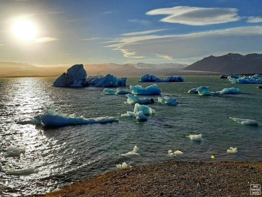 Islandzkie lodowe laguny - Jokulsarlon
