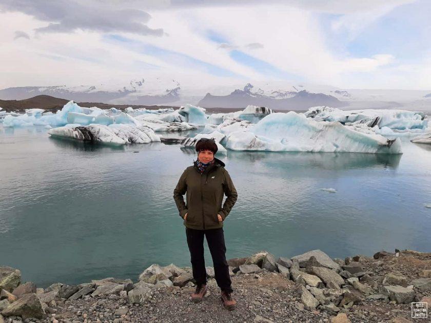Nad laguną lodową Jokulsarlon