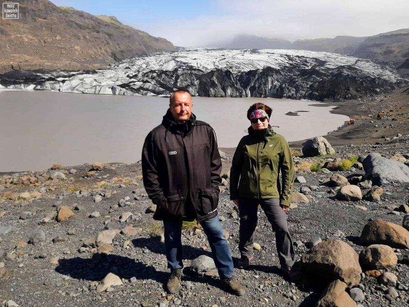 Przy lodowcu Solheimajokull