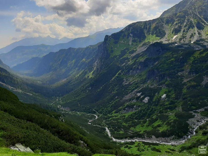 Widok na Dolinę Roztoki z podejścia na Krzyżne